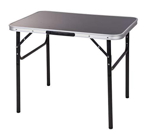 Spetebo aluminium campingtafel, zwart, 75 x 55 cm, klaptafel, in hoogte verstelbaar, picknicktafel, koffertafel