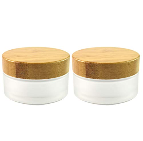Frosted Glass Cream Jars