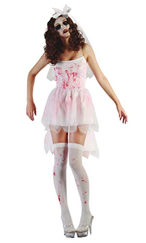 Ciao-Costume Sposa cadavere, taglia unica adulto Donna, Bianco, 62179