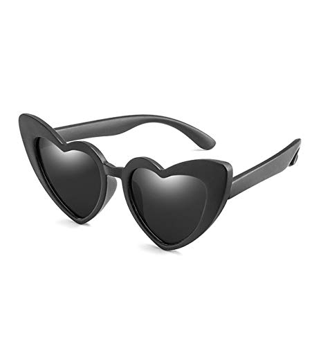 Sunglasses Baby Girl Sunglasses For Children Heart NEW Black Pink Red Heart Sun Glasses For Kids Polarized Flexible Uv400 black grey
