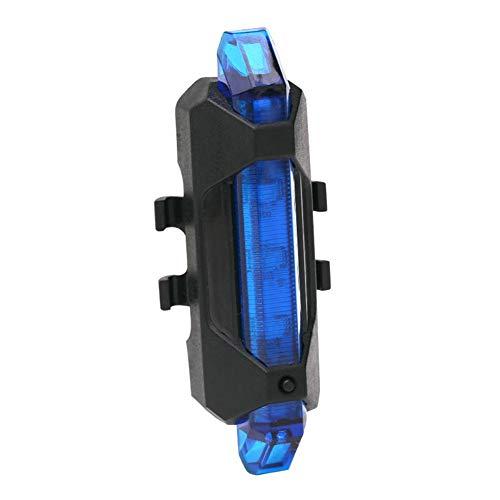 fuchsiaan 5 LED USB wiederaufladbare MTB Fahrrad Sicherheit Radfahren Rücklicht Lampe für Radfahren Sicherheitswarnlicht Blau