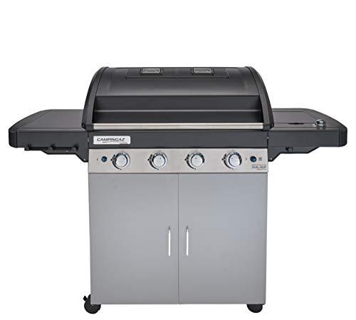 Campingaz Gasgrill 4 Series Dual Heat LS Plus, BBQ mit 2 Grillzonen, 4 Edelstahlbrennern und Seitenkocher, InstaClean Reinigungssystem und Culinary Modular System