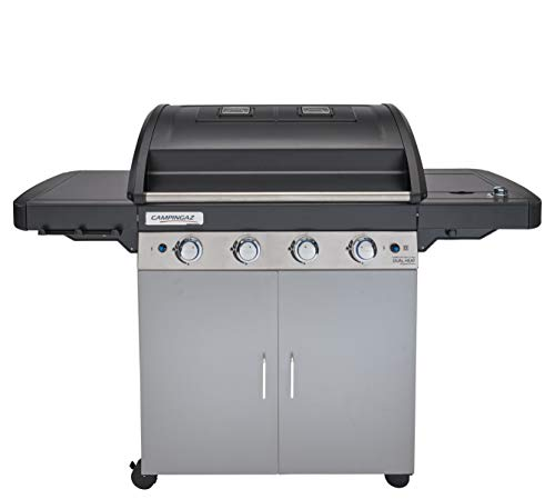 Campingaz 2000033727 4 Series Dual Heat LS Plus Barbacoa Gas con 2 zonas de asar, 4 quemadores de acero inoxidable, un quemador lateral, sistema de limpieza InstaClean, Culinary Modular System