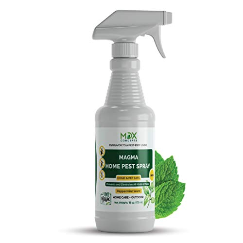 mdxconcepts Organic Home Pest Control Spray - Kills & Repels, Ants, Roaches, Spiders, and Other Pests Guaranteed - All Natural - Child & Pet Safe - Indoor/Outdoor Spray - 16oz