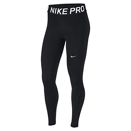 Nike Damen Pro Tights, Black/White, L