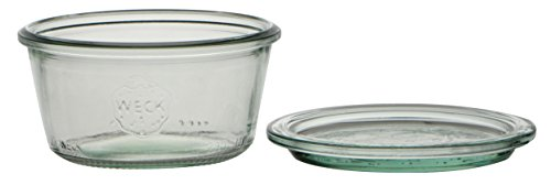 Glazen glazen schaal met deksel, 290 ml, 100 mm diameter, 6 stuks, transparant glas