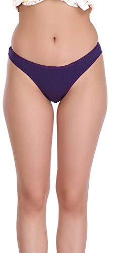 Eve's Beauty Women's Cotton Lycra Multicolor Bikini Panties - Pack of 3 (Medium, Pink)