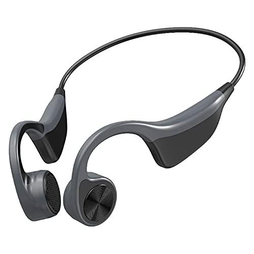 HKJZ SFLRW Auriculares de conducción ósea Auriculares Bluetooth inalámbricos IP55 Auriculares a Prueba de Agua a Prueba de Agua para Correr Auriculares de Ciclismo de conducción