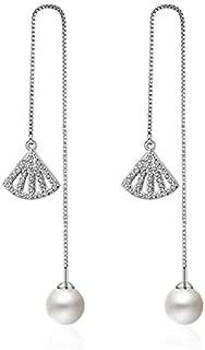 Yellow Chimes Stylish Party Wear Designer Range Pearl Dangling Sui Dhaga Threader Earring for Women & Girls