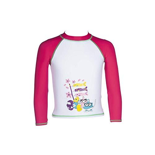 Arena T-Shirt, langärmlig, AWT, für Mädchen, mit UV-Schutz, mehrfarbig, FR: L (Größe Hersteller: 8-9)