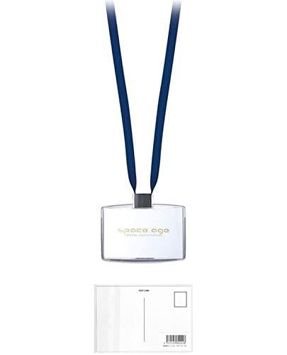 ソニック 名札 吊下げ名札 名刺サイズ ブルー EX-2604-B + 画材屋ドットコム ポストカードA