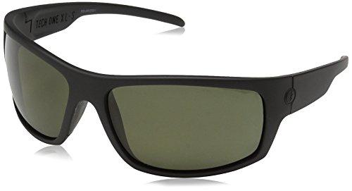 Electric mens Electric Visual Tech One Xls Matte Black/Polarized Grey Sunglasses Sunglasses, Matte Black, 139 mm US