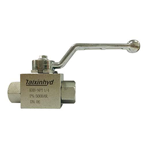 Taixinhyd Hydraulic 1/4''NPT 7250 PSI KHB High Pressure Ball Valve