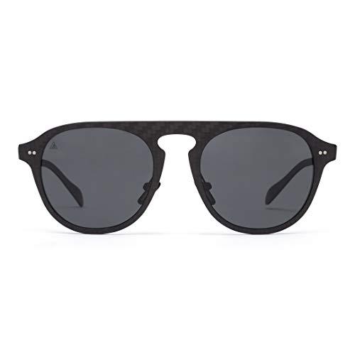 Gafas de Sol 100% Fibra de Carbono Polarizadas UV400  Unisex Adulto  Color Black Solid/Negro  Gafas de Sol Deportivas  Máxima Resistencia y Ligereza  Diseño Clásico Atemporal