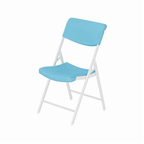 Lpinvin Trainingsstuhl Kunststoff-Trainingsstuhl Klappstuhl Tragbarer Rückstuhl Simple Hocker Konferenzstuhl Trainingsstuhl Bürostuhl Tragbarer Trainingsstuhl (Farbe : Blau, Size : 40x41x80cm)