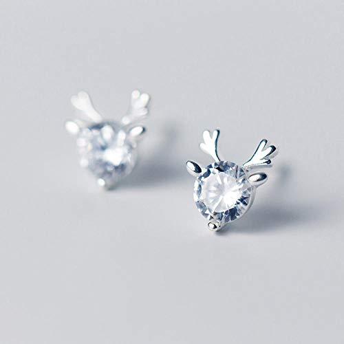 Pendientes Mujer Pendientes De Botón Pequeños Y Bonitos De Plata De Ley 925 para Mujer, Pendientes De Circonita De Cristal De Regalo
