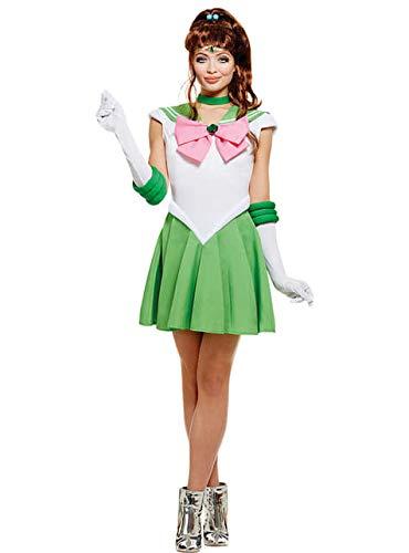 Funidelia | Costume Sailor Moon - Jupiter Ufficiale per Donna Taglia XXL ▶ Anime, Cosplay, Usagi Tsukino, Cartoni Animati - Verde