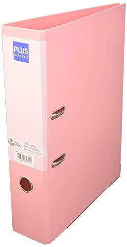 Archivador Plus Office Folio Rado de Palanca Super Fuerte Gran Capacidad- Lomo 80 mm. Rosa Pastel.