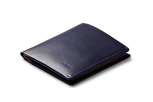 Bellroy Note Sleeve, schlanke Leder Brieftasche, mit RFID Schutz erhältlich (Max. 11 Karten, Geldscheine und Münzen) - Navy - RFID