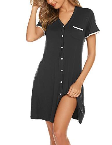 Womens Button Up Shirt Short Sleeve