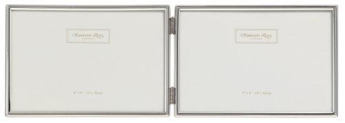 Addison Ross - Cornice portafoto Doppia Essentials, Argentata, Formato Orizzontale, 10 x 15 cm