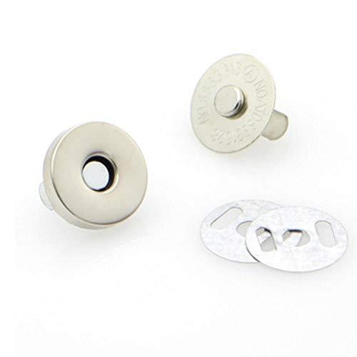 3set 14mm/18mm 4 Kleuren Pick Metaal Sterke Magnetische snap Bevestigingen Sluitingen Knopen voor Handtas Portemonnee Tassen Onderdelen Accessoires 18mm ZILVER