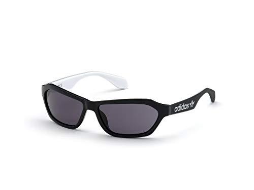 adidas Unisex-Erwachsene OR0021 Sonnenbrille, Shiny Black/Smoke, 58