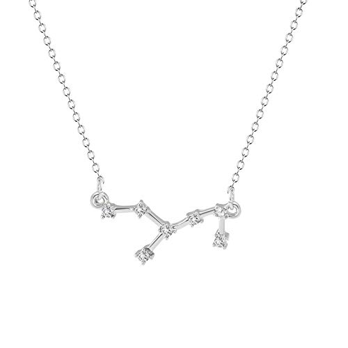 Mllkcao Necklace for Women Jewelry Gifts Valentine's Day Present Love & Twelve Constellation Diamond Necklace Pendant Irregular & Memory Projection Necklace & Sea Turtle Ocean & Natural Stone Crystal