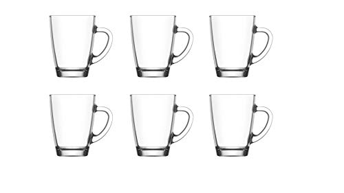 Lot de 6 tasses à café avec poignée - Passe au lave-vaisselle - Fabriqué en Turquie