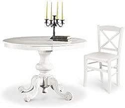 Tidyard Tavolo da Pranzo allungabile Tavolo da Pranzo Rotondo,Tavolo da Pranzo 106 cm in Legno Massello di Hevea