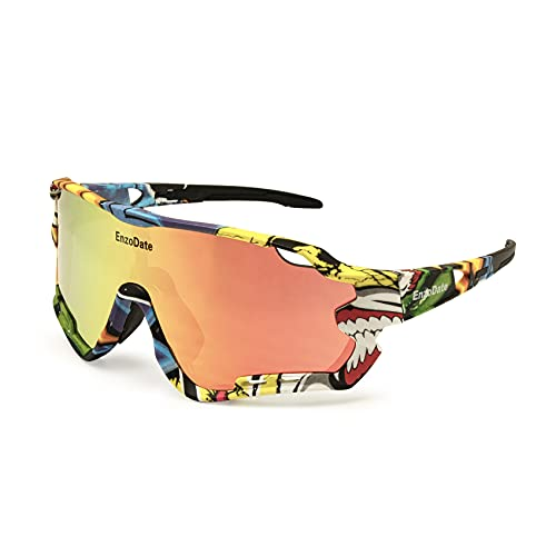 EnzoDate Ciclismo Polarized Occhiali con 3 lenti per Montagna Bicicletta ATV All'aperto Gli sport Occhiali da sole MTB Occhiali