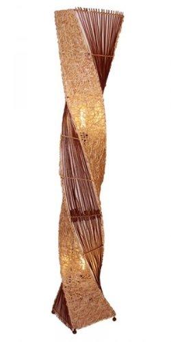 Deko-Leuchte MARCO, hohe Stehlampe aus Natur-Material, gedrehte Form , Grösse:ca. 150 cm