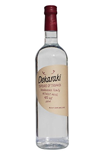 Tsipouro Dekaraki 40% 700ml griechischer Tresterbrand Destillat Raki Grappa aus Griechenland