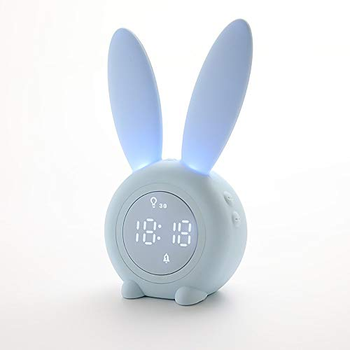 DLSMB-HO wekker, stopwatch, nachtsensor, klein alarm, siliconen, timer, klok, nachtlampje, met slaaplicht