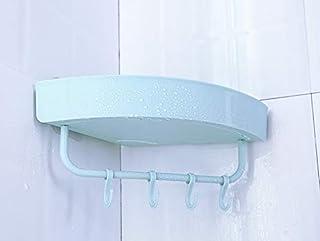 サニタリーセット 三角形の棚あきフリーバスルーム棚洗濯ラックトイレキッチンストレージラック (Color : 水色, Size : フリー)