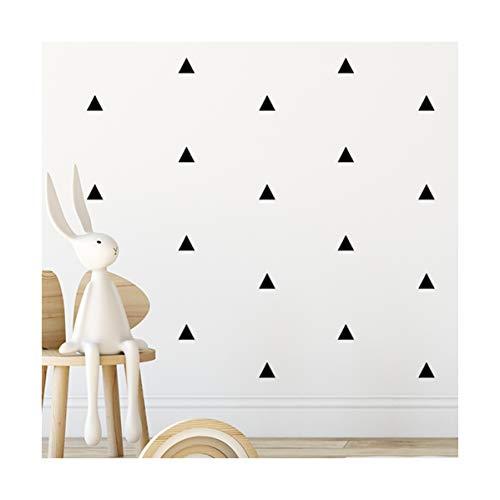 Arizona Black Triangle Room Stickers - calcomanías de arte de pared para niños niñas guardería, dormitorio, sala de estar pegatina de habitación triángulo negro'arizona' 80 piezas