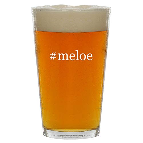 #meloe - 16oz Hashtag Clear Glass Beer Pint Glass