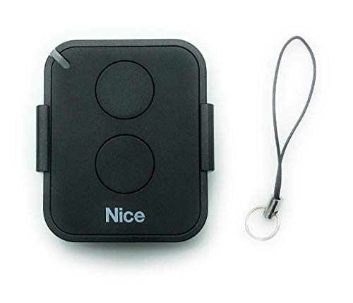 NICE FLO2RE 2-kanal handsender, 433.92Mhz rolling code. Kompatibel mit FLOR-S, ONE, FLORE, INTI fernbedienungen.
