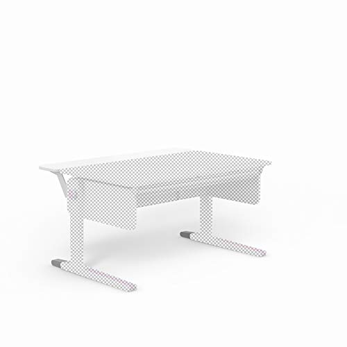 moll Champion Multi Deck Kinderschreibtisch Erweiterung, Holz, Weiß, 120cm x 30cm x 10cm