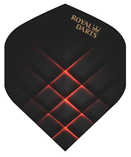 Royal Darts Flights Professional (5 Sets (15 Flights), Schwarz-Rot)
