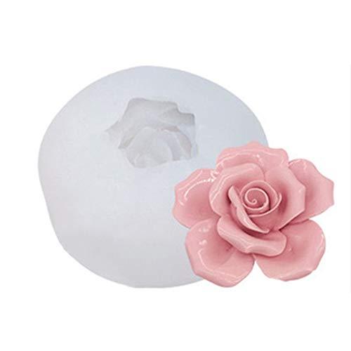 3D Rose Silikon Fondant Form für Hochzeit Kuchen Dekorieren Cupcake Topper Rose S mit Weiß