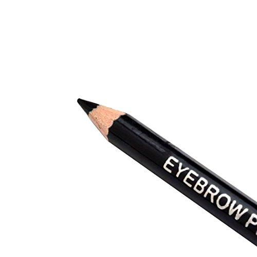 Frauen Wasserdicht Augenbrauen Bleistift mit Bürsten Verfassung Leopard Kosmetische Schönheits Werkzeug 1#Schwarz