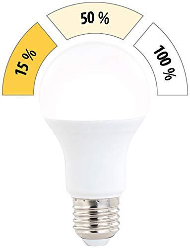 Luminea Glühbirne dimmbar: LED-Lampe mit 3 Helligkeits-Stufen, 10 W, 810 lm, E27, warmweiß, A60 (LED Birne dimmbar)