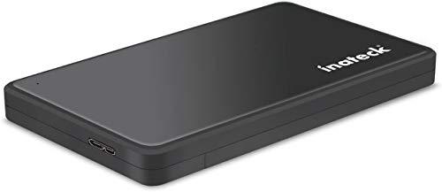 Inateck USB 3.0 Externes Festplatten Gehäuse für 9.5mm 7mm 2.5 Zoll SATA SSD HDD mit USB3.0 Kabel Werkzeuglose HDD Installation Tool-Free