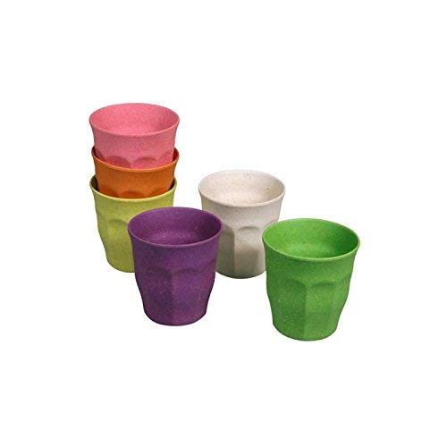zuperzozial, farbige Becher, 6 Stück, Sortiert, Regenbogenfarben, Nylon/A
