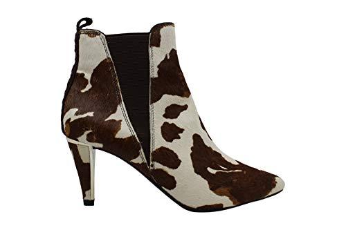 DKNY Frauen Alani Geschlossener Zeh Wildleder Fashion Stiefel Weiss Groesse 5.5 US /36 EU