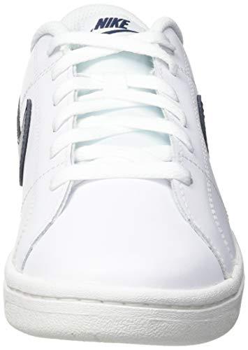 Nike Court Royale 2, Sneaker Hombre, White/Obsidian, 43 EU