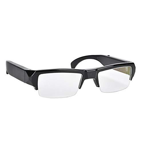 Entatial Gafas de cámara Mini 1920x1080 Cámara HD Lente Plana Gafas de Medio Marco Grabadora