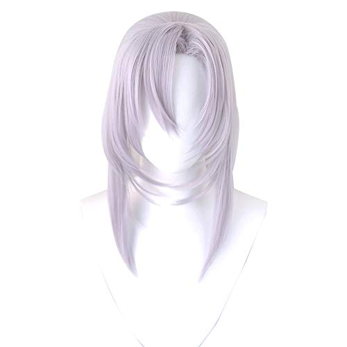 Séraphin De The End Ferid Bathory Long Straight Gray Heat Resistant Synthetic Hair Cosplay Halloween Party - Free Wig Cap A 33poch