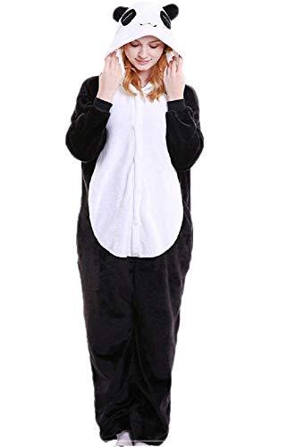 Pijama Fantasia Kigurumi Panda Macacão com Capuz Tamanho: P 1,40-1,55